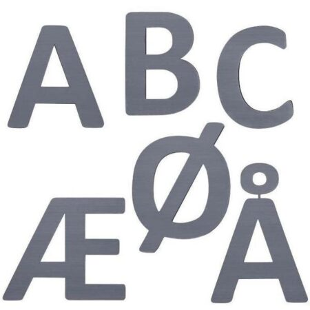 Sebra bogstaver grå