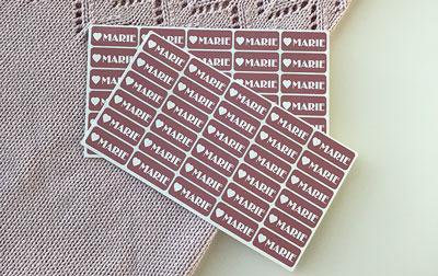 klistermærker med navn til tøj