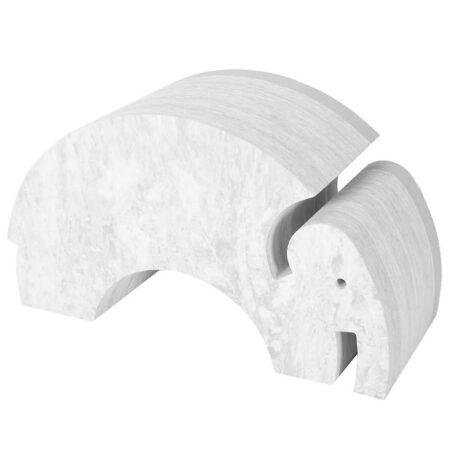 bObles Elefant - Stor - Grå Marmor