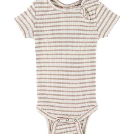Petit Piao Body k/æ - Rib - Beige Striped