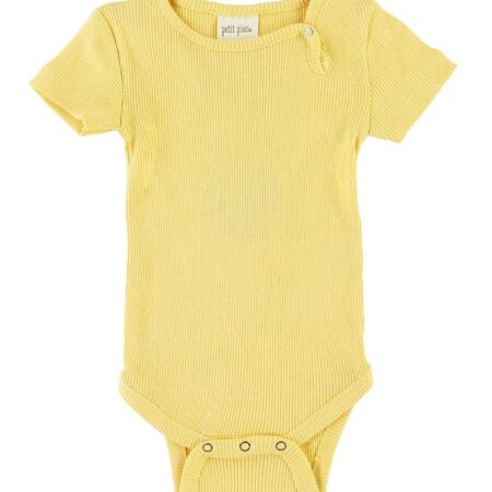 Petit Piao Body k/æ - Rib - Yellow