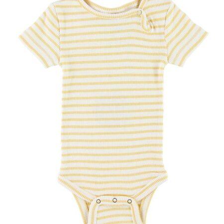 Petit Piao Body k/æ - Rib - Yellow Striped