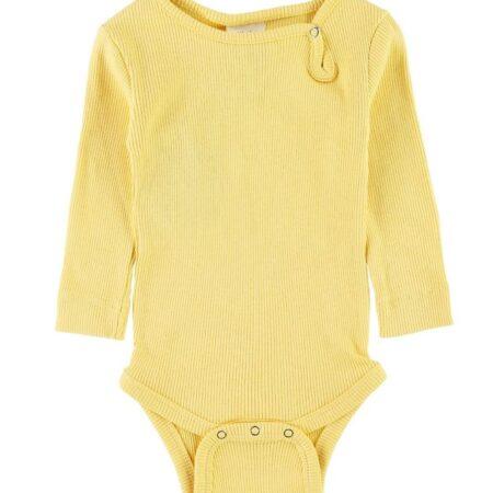 Petit Piao Body l/æ - Rib - Yellow