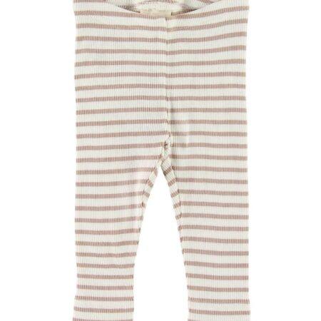 Petit Piao Leggings - Rib - Beige Striped