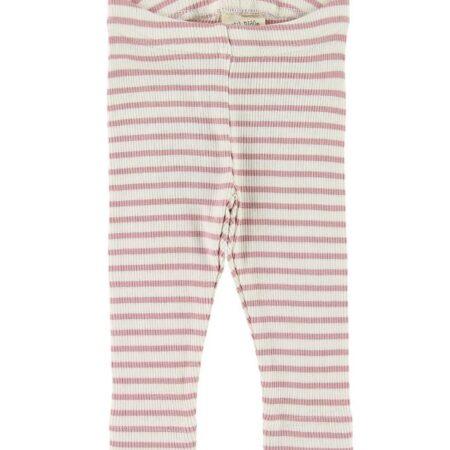 Petit Piao Leggings - Rib - Rose Striped