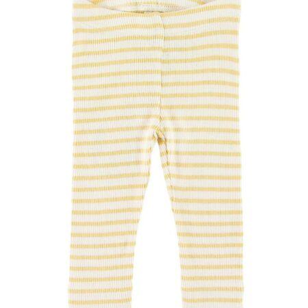 Petit Piao Leggings - Rib - Yellow Striped